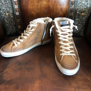 Golden Goose Shearling Slide Sneakers (NEW)